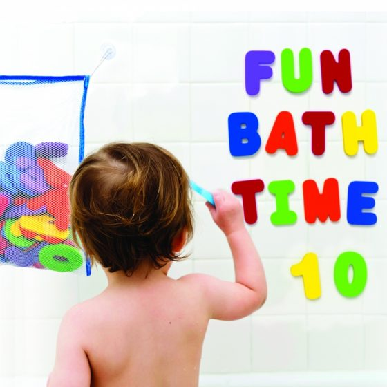 Brilliant Babyz Bath Toy Organizer With Foam Letters and Numbers Review