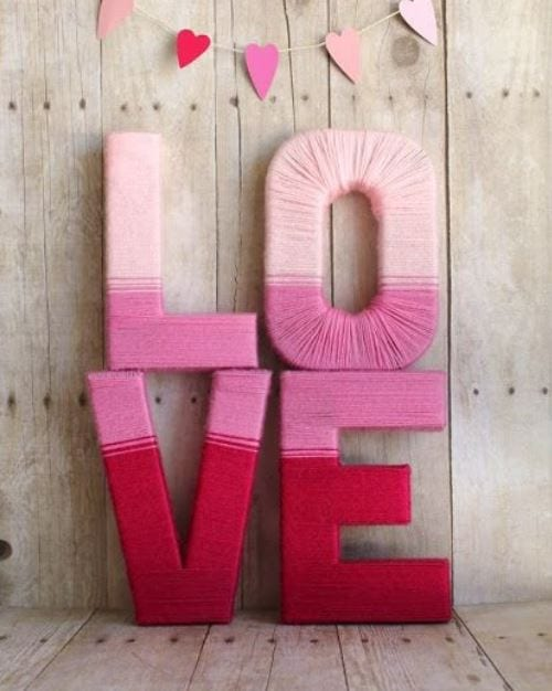DIY Valentine's Day Yarn Crafts