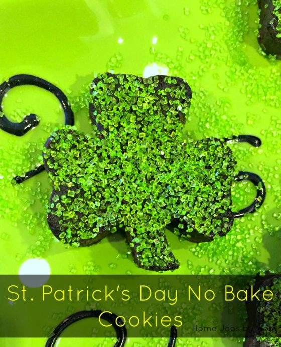 St. Patrick's Day No Bake Cookies