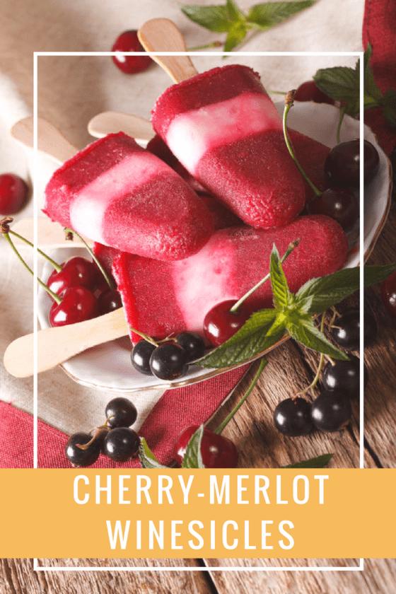 Cherry-Merlot Winesicles