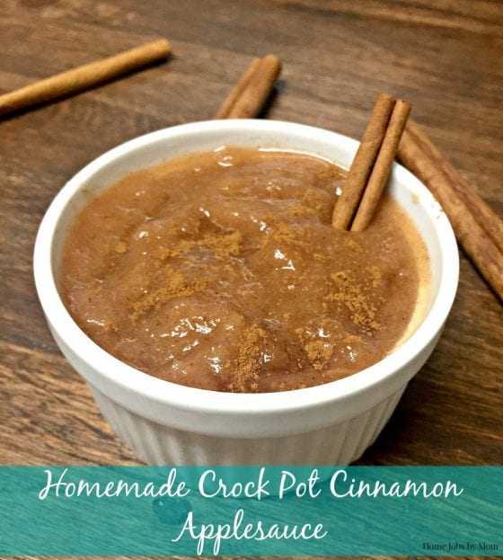 Homemade Crock Pot Cinnamon Applesauce