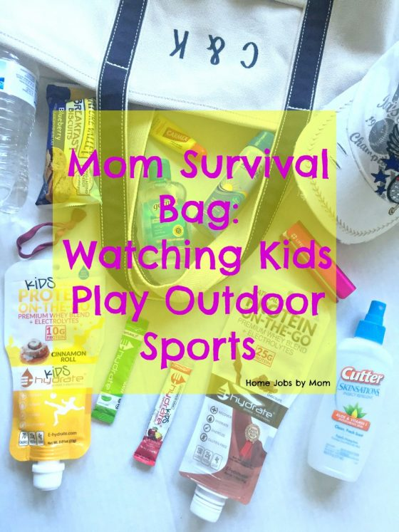 Mom Survival Bag for Watching Kids Play Outdoor Sports #ehydrate #momsmeet