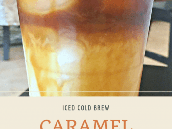iced cold brew caramel coffee