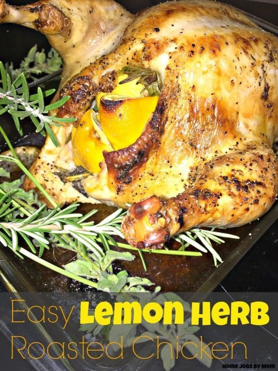 easy Lemon Herb Roasted Chicken