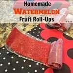 Homemade Watermelon Fruit Roll-Ups recipe