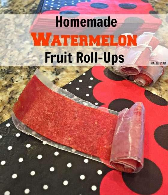 Homemade Watermelon Fruit Roll-Ups