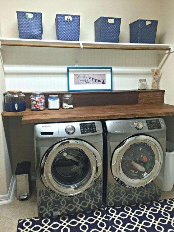 laundry room butcher block