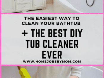 DIY TUB CLEANER, diy tub cleaner bathtub cleaning, tub cleaner recipe, tub cleaner diy, tub cleaner vinegar