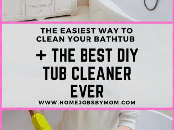DIY TUB CLEANER, diy tub cleaner bathtub cleaning, tub cleaner recipe, tub cleaner diy, tub cleaner vinegar