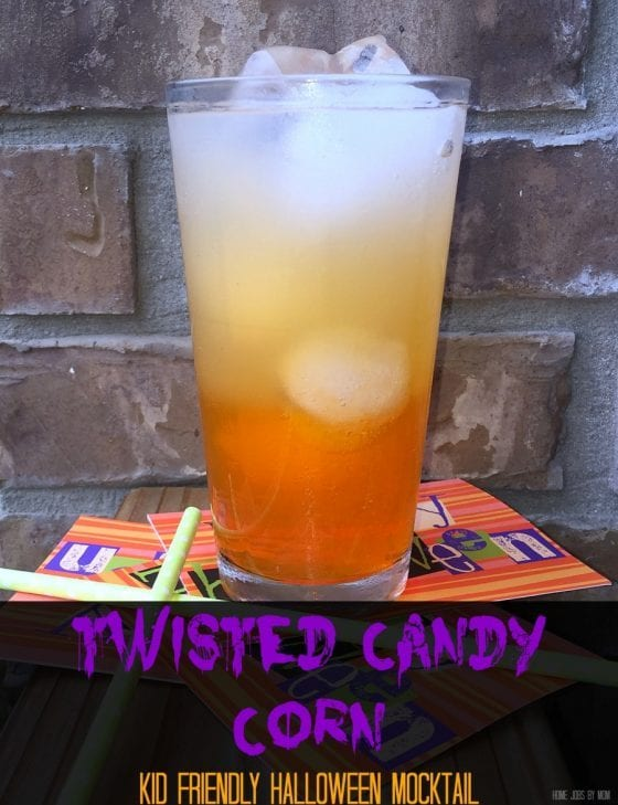 Twisted Candy Corn Kid Friendly Halloween Mocktail hero