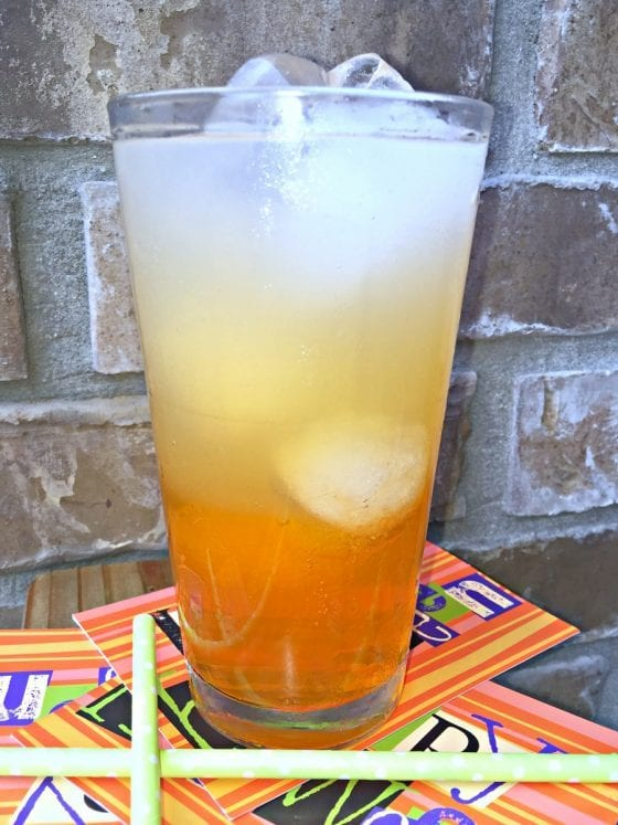 Twisted Candy Corn Kid Friendly Mocktail for Halloween
