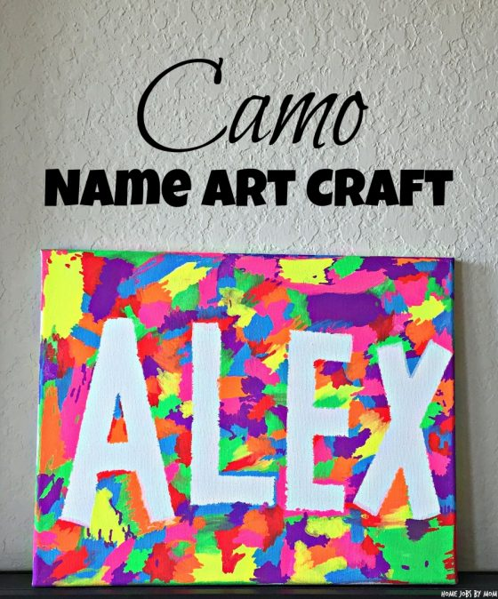 Easy Camo Name Art Craft Home Jobs By Mom