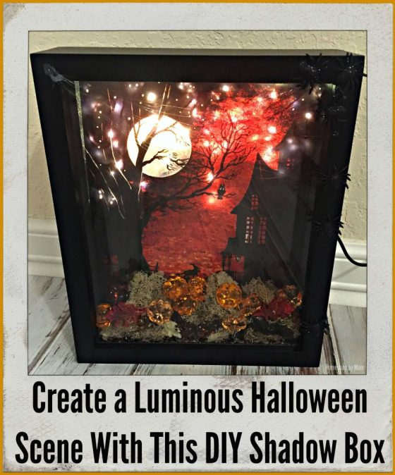 Create a Luminous Halloween Scene With This DIY Shadow Box