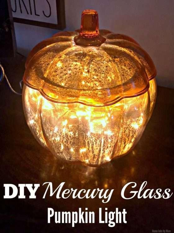 DIY Mercury Glass Pumpkin Light #LTKholidayathome