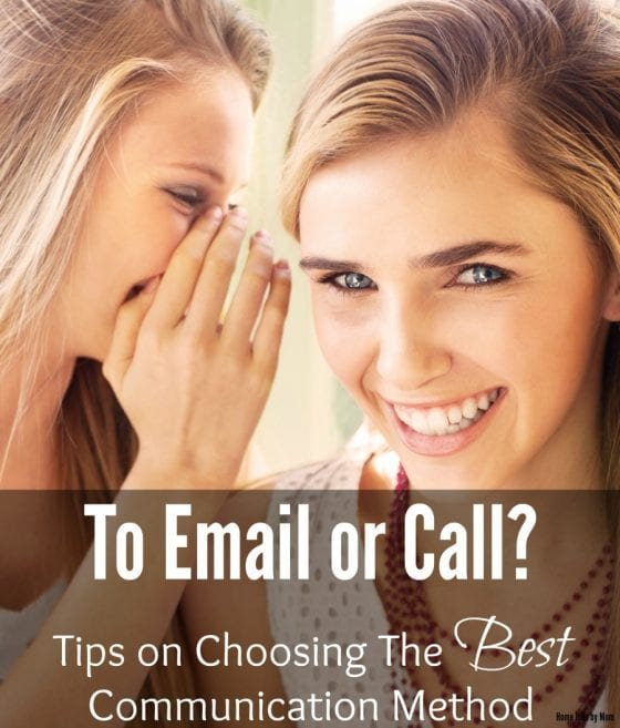 To Email or Call? Tips on Choosing The Best Communication Method