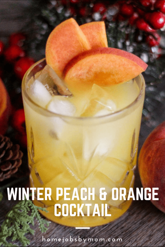 Winter Peach & Orange Cocktail
