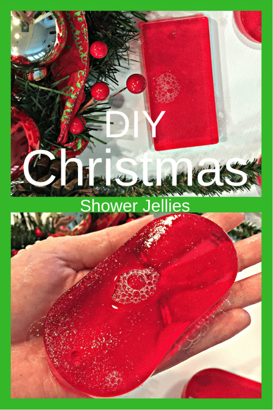 shower jellies, christmas shower jellies, DIY