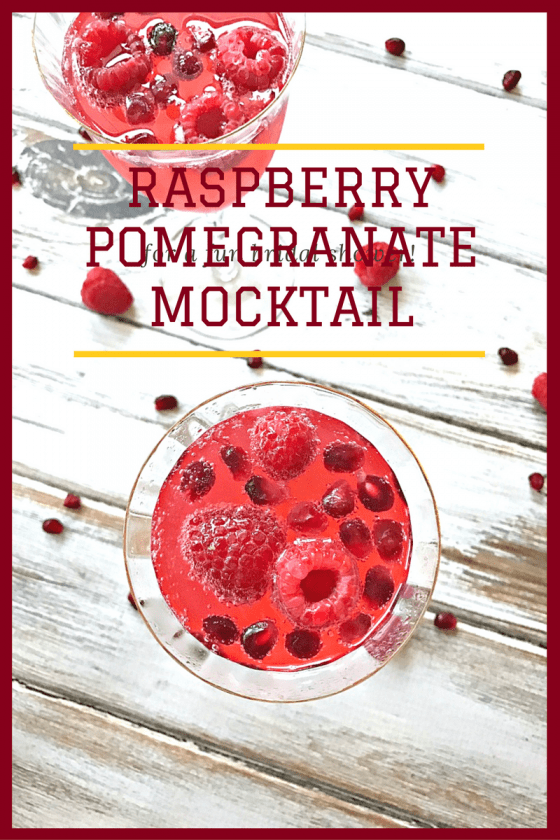 Raspberry Pomegranate Mocktail