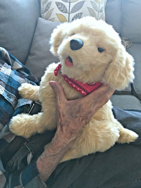 Hasbro's Joy For All Companion Pet Pup hands