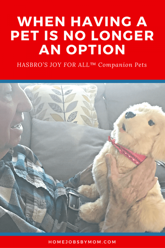 When Having A Pet Is No Longer An Option | Home Jobs by Mom