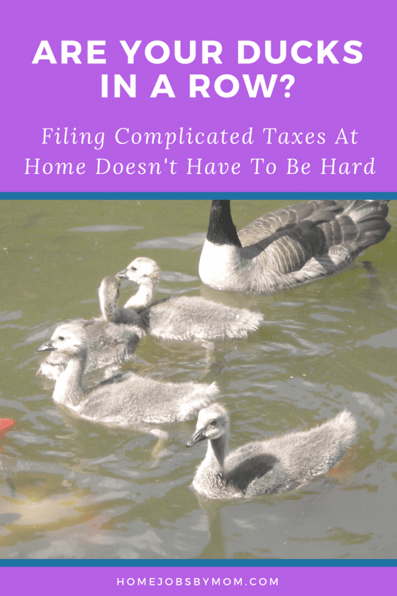 Are Your Ducks in A Row- Filing Complicated Taxes At Home Doesn't Have To Be Hard