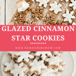 Glazed Cinnamon Star Cookies