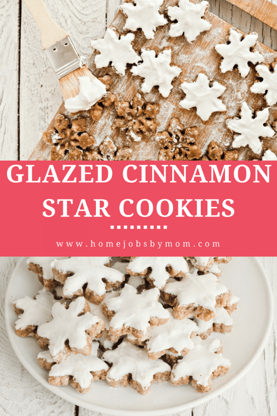 Glazed Cinnamon Star Cookies