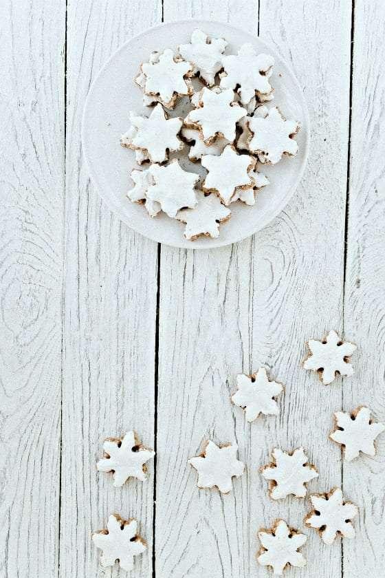cinnamon star cookies on table