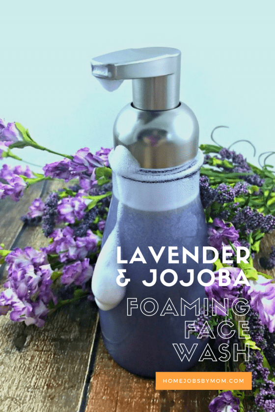 lavender and jojoba foaming face wash