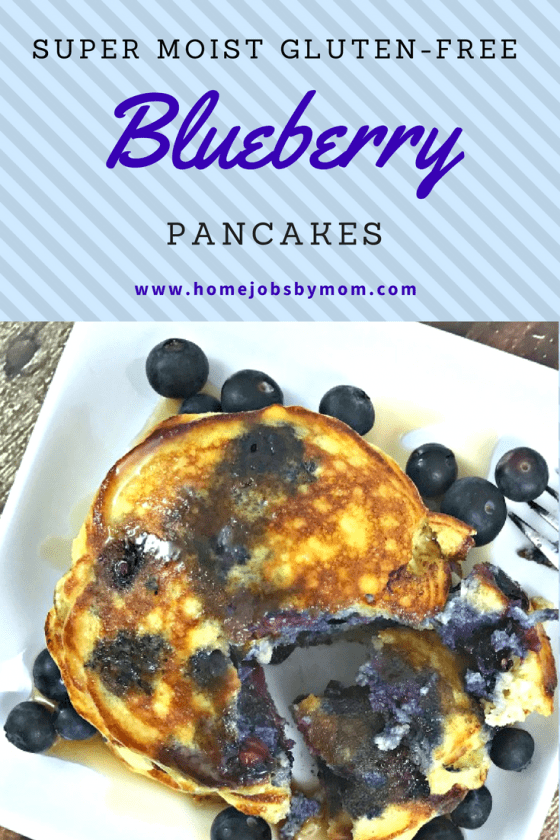 Super Moist Gluten-Free Blueberry Pancakes
