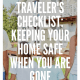Traveler's Checklist, home security