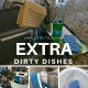 dirty dishes, cleaning dirty dishes, hard to clean dishes