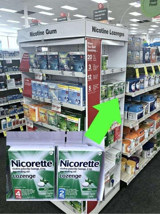 nicorette aisle