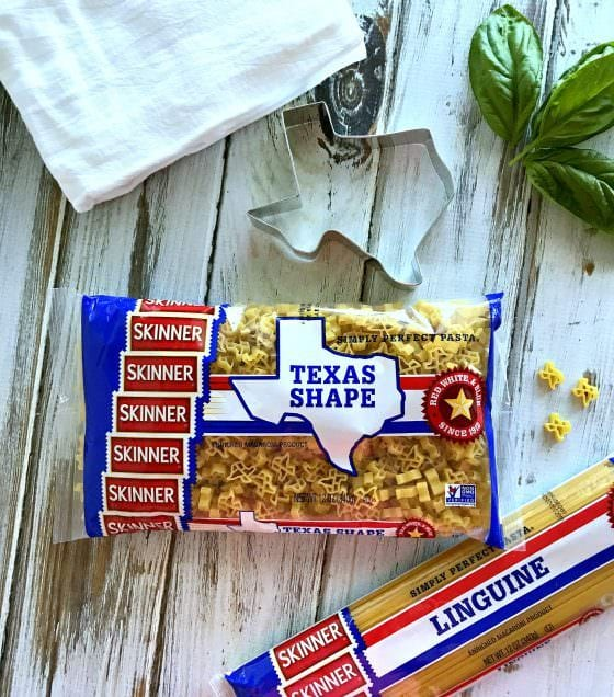 skinner texas shaped pasta in a bag