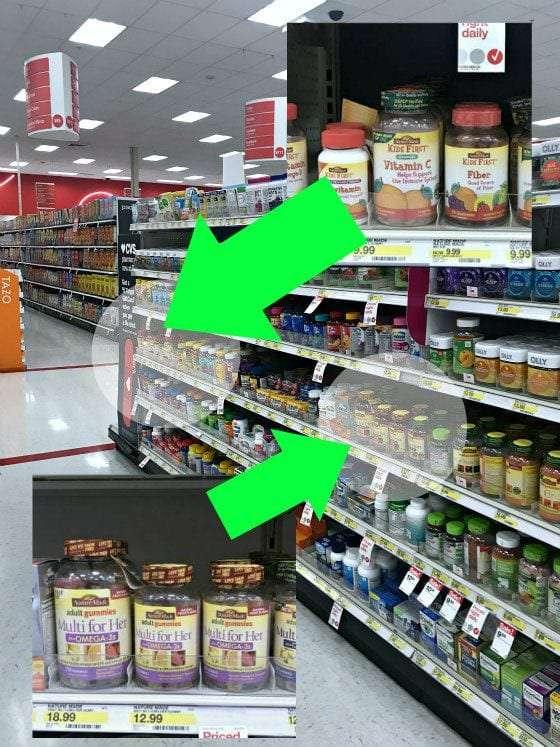 target vitamin aisle