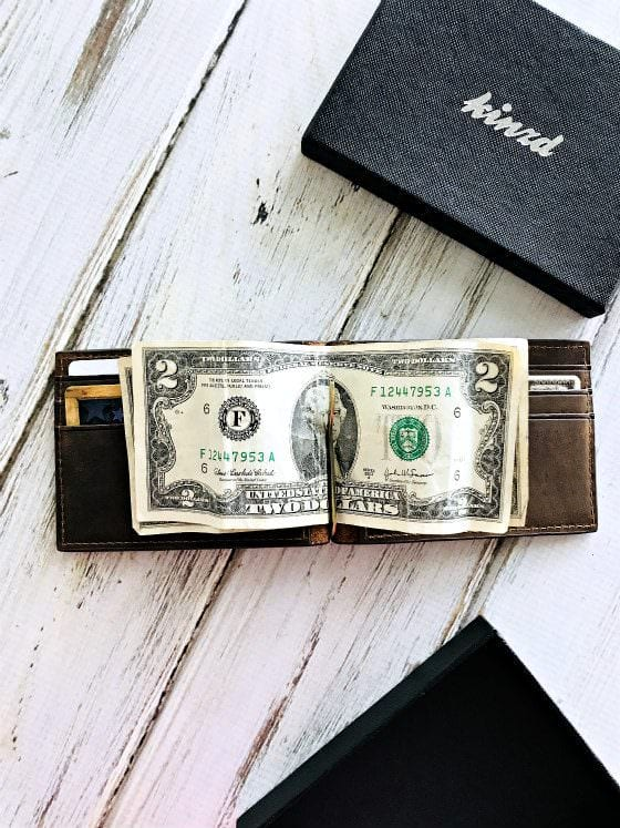 money clip wallet with money