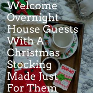 christmas stocking for guests, christmas stocking ideas, christmas stocking stuffers