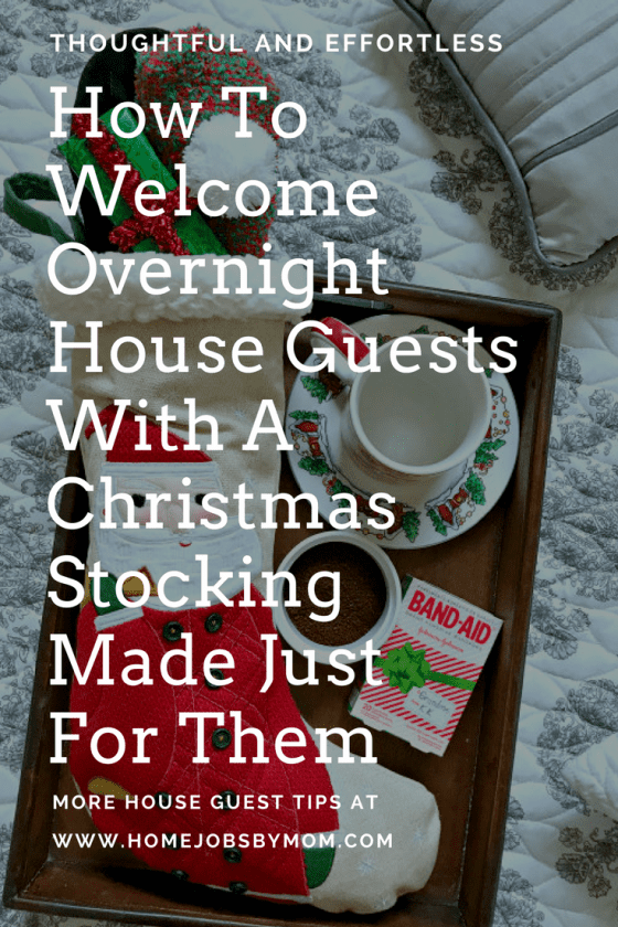 christmas stocking for guests, christmas stocking ideas, christmas stocking stuffers