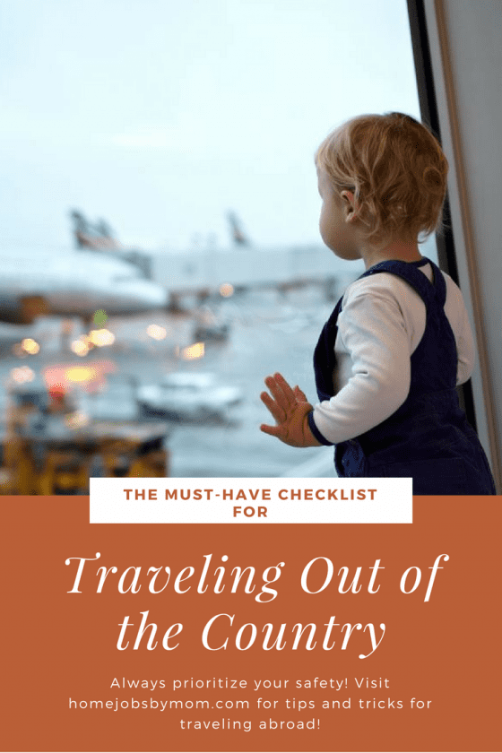 The Must-Have Checklist for Traveling Out of the Country