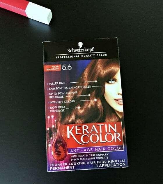 keratin color box