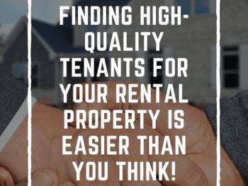 Tenants, finding Tenants, Rental Property, help finding tenants, tips for landlords finding tenants