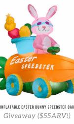 Inflatable Easter Bunny Speedster Car Giveaway ($55ARV!)