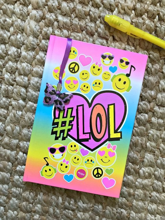 gifts, gifts for girls, smit co, diary, emoji diary, light up diary, secret diary