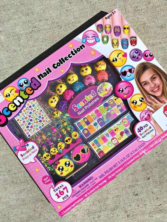 gifts, gifts for girls, smit co, emoji gifts, emoji nail polish, scented nail polish