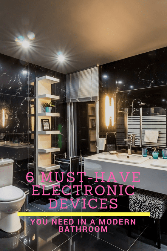 Modern Bathroom, bathroom, smart bathroom, smart devices
