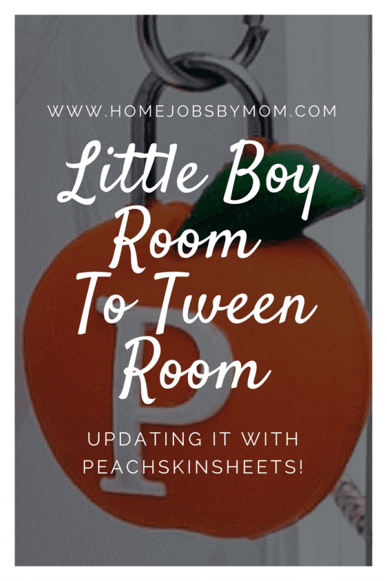 Little Boy Room To Tween Room: Updating It With PeachSkinSheets! (Plus a Giveaway! Ends 8/18)