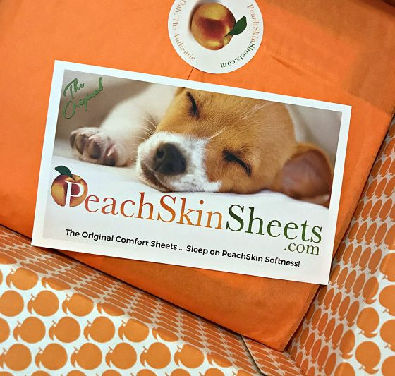 peach skin sheets packaging