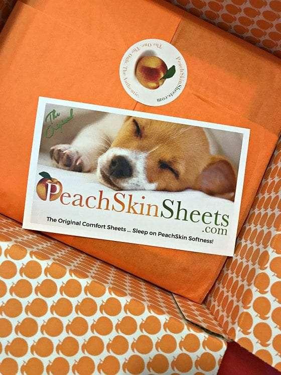 peach skin sheets packaging