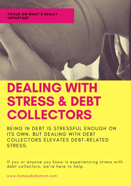 stress, debt collectors, debt, getting out of debt, dealing with debt stress