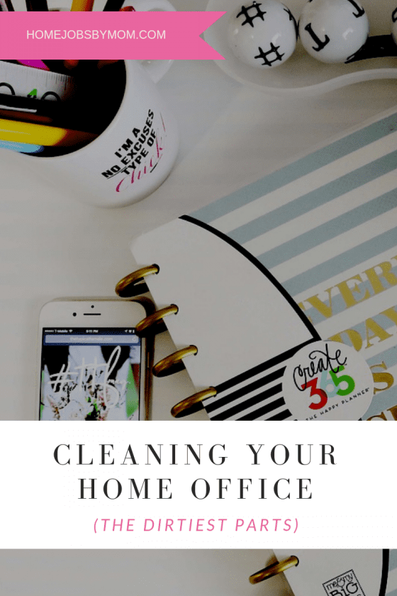 cleaning your home office
